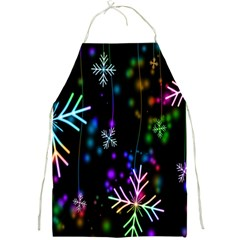 Nowflakes Snow Winter Christmas Full Print Aprons