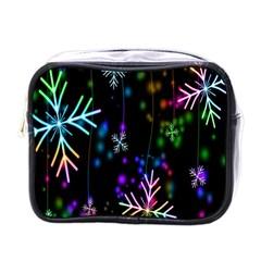 Nowflakes Snow Winter Christmas Mini Toiletries Bags