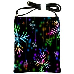 Nowflakes Snow Winter Christmas Shoulder Sling Bags