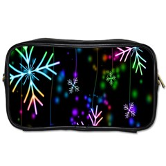 Nowflakes Snow Winter Christmas Toiletries Bags