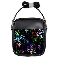 Nowflakes Snow Winter Christmas Girls Sling Bags