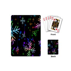 Nowflakes Snow Winter Christmas Playing Cards (Mini)