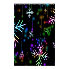 Nowflakes Snow Winter Christmas Shower Curtain 48  x 72  (Small)