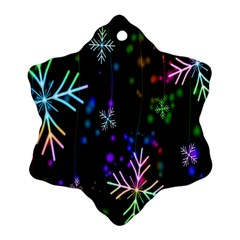 Nowflakes Snow Winter Christmas Ornament (Snowflake)