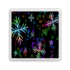 Nowflakes Snow Winter Christmas Memory Card Reader (Square)