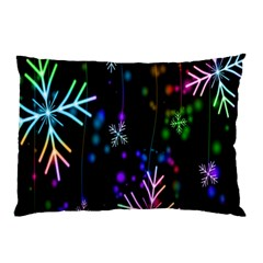 Nowflakes Snow Winter Christmas Pillow Case (Two Sides)