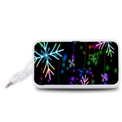 Nowflakes Snow Winter Christmas Portable Speaker (White)