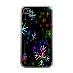 Nowflakes Snow Winter Christmas Apple iPhone 4 Case (Clear)