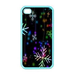 Nowflakes Snow Winter Christmas Apple iPhone 4 Case (Color)