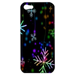 Nowflakes Snow Winter Christmas Apple iPhone 5 Hardshell Case
