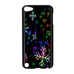 Nowflakes Snow Winter Christmas Apple iPod Touch 5 Case (Black)