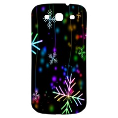 Nowflakes Snow Winter Christmas Samsung Galaxy S3 S III Classic Hardshell Back Case