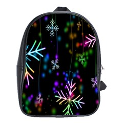 Nowflakes Snow Winter Christmas School Bags (XL)
