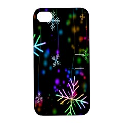 Nowflakes Snow Winter Christmas Apple iPhone 4/4S Hardshell Case with Stand