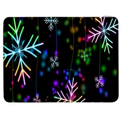 Nowflakes Snow Winter Christmas Samsung Galaxy Tab 7  P1000 Flip Case