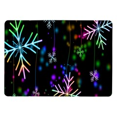 Nowflakes Snow Winter Christmas Samsung Galaxy Tab 10.1  P7500 Flip Case