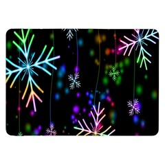 Nowflakes Snow Winter Christmas Samsung Galaxy Tab 8 9  P7300 Flip Case