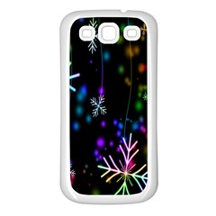 Nowflakes Snow Winter Christmas Samsung Galaxy S3 Back Case (white)