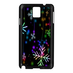 Nowflakes Snow Winter Christmas Samsung Galaxy Note 3 N9005 Case (Black)