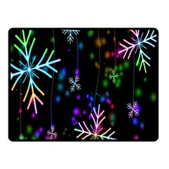 Nowflakes Snow Winter Christmas Double Sided Fleece Blanket (Small)