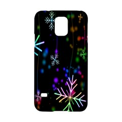 Nowflakes Snow Winter Christmas Samsung Galaxy S5 Hardshell Case