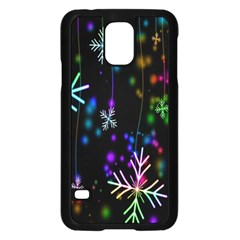 Nowflakes Snow Winter Christmas Samsung Galaxy S5 Case (Black)