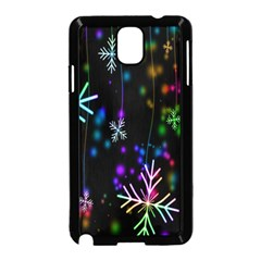Nowflakes Snow Winter Christmas Samsung Galaxy Note 3 Neo Hardshell Case (Black)