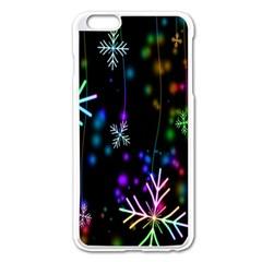 Nowflakes Snow Winter Christmas Apple iPhone 6 Plus/6S Plus Enamel White Case