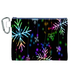 Nowflakes Snow Winter Christmas Canvas Cosmetic Bag (xl)