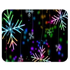 Nowflakes Snow Winter Christmas Double Sided Flano Blanket (Medium)
