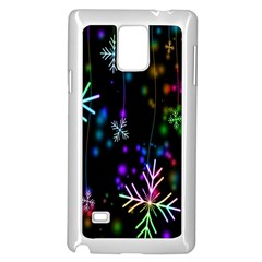 Nowflakes Snow Winter Christmas Samsung Galaxy Note 4 Case (White)