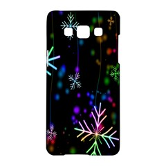 Nowflakes Snow Winter Christmas Samsung Galaxy A5 Hardshell Case
