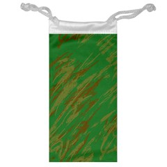 Brown green texture                                                  Jewelry Bag
