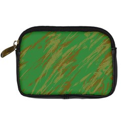 Brown green texture                                                  	Digital Camera Leather Case