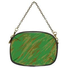 Brown green texture                                                  	Chain Purse (Two Sides)