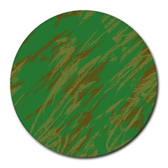 Brown green texture                                                  Round Mousepad