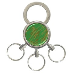 Brown green texture                                                  3-Ring Key Chain