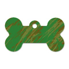 Brown green texture                                                  Dog Tag Bone (One Side)