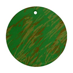 Brown green texture                                                  Ornament (Round)