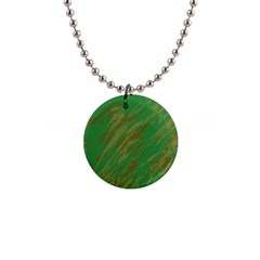 Brown green texture                                                  1  Button Necklace