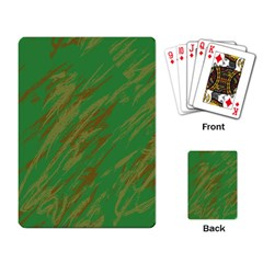 Brown green texture                                                  			Playing Cards Single Design