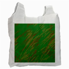 Brown green texture                                                  Recycle Bag (One Side)