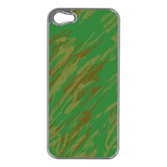 Brown green texture                                                 			Apple iPhone 5 Case (Silver)