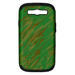 Brown green texture                                                 Samsung Galaxy S III Hardshell Case (PC+Silicone)