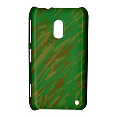 Brown green texture                                                 			Nokia Lumia 620 Hardshell Case