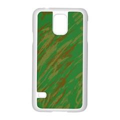 Brown green texture                                                 Samsung Galaxy S5 Case (White)