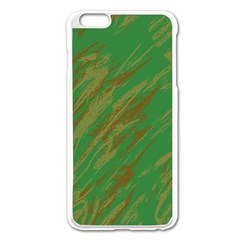 Brown green texture                                                 			Apple iPhone 6 Plus/6S Plus Enamel White Case