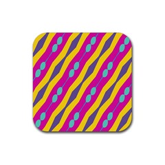 Blue bead chains                                                   			Rubber Square Coaster (4 pack