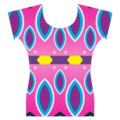 Ovals and stars                                                    Women s Cap Sleeve Top