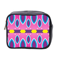 Ovals and stars                                                    Mini Toiletries Bag (Two Sides)